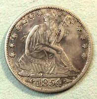 1854 O SEATED HALF DOLLAR SHARP NICE COIN