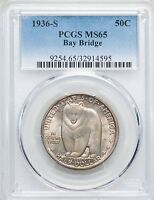 1936 S OAKLAND BAY BRIDGE CAL PCGS MS65 COMMEMORATIVE SILVER HALF DOLLAR COMMEM