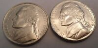 1999 P & D JEFFERSON NICKEL SET 2 COINS