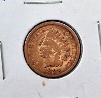 1898 1C INDIAN HEAD CENT PENNY COIN