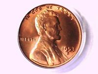 1953 S LINCOLN WHEAT CENT PCGS MS 66 RD 7907228