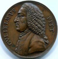 WILLIAM PITT THE OLDER MEDAL 1766. REPEAL OF STAMP ACT   START OF AMERICAN REV.