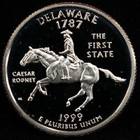 1999 S STATE QUARTER DELAWARE GEM PROOF DCAM CN CLAD COIN UNCIRCULATED