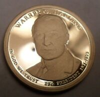 2014 S WARREN G HARDING PRESIDENTIAL  PROOF DOLLAR COIN