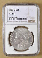 1903 O MORGAN SILVER DOLLAR NGC MS65