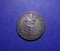 1855 W/ARROWS SEATED LIBERTY HALF DOLLAR XF