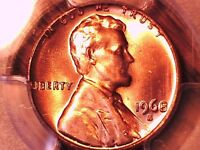 1968 S LINCOLN MEMORIAL CENT PCGS MS 66 RD 29924956