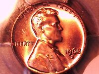 1968 S LINCOLN MEMORIAL CENT PCGS MS 66 RD 29924960