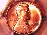 1968 S LINCOLN MEMORIAL CENT PCGS MS 66 RD 29924953
