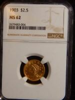 1903 P ..$2 1/2 INDIAN NGC MS62 RC1074