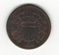 1868 TWO CENTS - FINE CONDITION