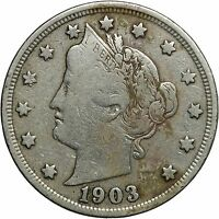 1903 5C LIBERTY NICKEL