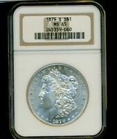 1879-S MORGAN DOLLAR S$1 NGC MINT STATE 65