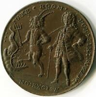 ROBERT WALPOLE SATIRICAL ELECTION MEDALET    ELECTION OF 1741 EXCISE