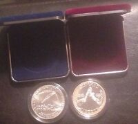 SILVER DOLLAR LOT 1787 1987 BU USA CONSTITUTION $1 & 1988 S US PROOF   COINS SET