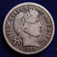 1916 S BARBER DIME  KEY DATE  NICE COIN. 90 SILVER  COMBINED SHIPPING