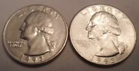 1993 P & D WASHINGTON QUARTER COIN SET 2 COINS