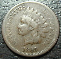 1865 INDIAN HEAD CENT PENNY  -  MAKE US AN OFFER  O6909