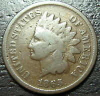 1865 INDIAN HEAD CENT PENNY  -  MAKE US AN OFFER  O6921