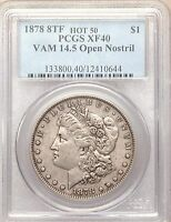 1878 P 8TF VAM 14.5 PCGS XF40 MORGAN SILVER DOLLAR HOT 50  OPEN NOSTRIL