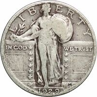 1929 25 CENTS STANDING LIBERTY QUARTER