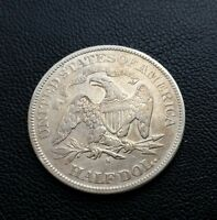 1877 S UNITED STATES SEATED LIBERTY SILVER HALF DOLLAR