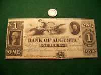 1843 $1 THE BANK OF AUGUSTA GEORGIA   NICE UNC NOTE   FREE SHIP