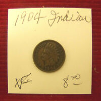 1904 INDIAN HEAD CENTS   XF