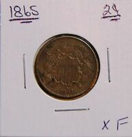 1865 2 CENT PIECE NEARLY 150 YRS OLD XF LY FINE