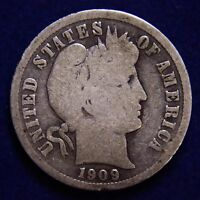 1909 P BARBER DIME  KEY DATE  NICE COIN. 90 SILVER  COMBINED SHIPPING