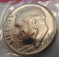 1980 D ROOSEVELT DIME  MINT CELLO