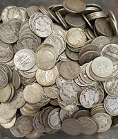 ROLL 50 MERCURY DIMES  MIXED DATES 1917 1945  MOSTLY 1940S