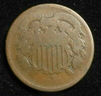 1864 TWO CENT PIECE KEY DATE BETTER GRADE COIN 2C $