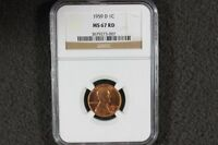 1959 D LINCOLN CENT MS67 RD NGC