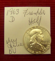 1963 D FRANKLIN HALF DOLLAR   CHOICE UNCIRCULATED