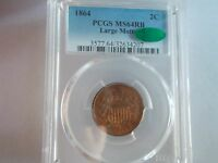 1864 2 CENTS 2C PCGS MINT STATE 64 RB - LARGE MOTTO - CAC CERTIFIED