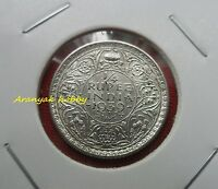 BRITISH INDIA 1/4 RUPEE UNC SILVER COIN KING GEORGE VI  1939