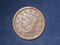 1849 1C BN BRAIDED HAIR CENT