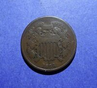 1864 LM TWO CENT PIECE VG