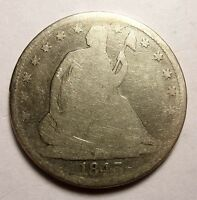 1843 SEATED HALF DOLLAR BETTER DATE