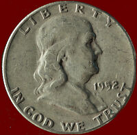 1952 P FRANKLIN 90 SILVER HALF DOLLAR SHIPS FREE. BUY 5 FOR $2 OFF.