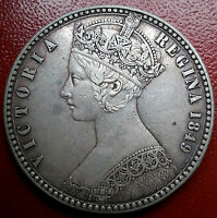 1849 TWO SHILLINGS/FLORIN. VICTORIA BRITISH SILVER COINS.