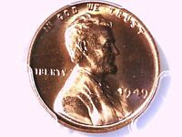 1949 P LINCOLN WHEAT CENT PCGS MS 65 RD 80442113