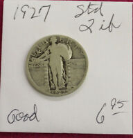 1927 STANDING LIBERTY SILVER QUARTER-GOOD