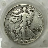 1941 D SILVER WALKING LIBERTY HALF DOLLAR  OLD US COIN A2917
