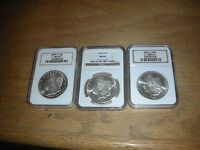 1879-S, 1880-S, 1881-S NGC MINT STATE 64 MORGAN DOLLARS - COMBINE SHIPPING
