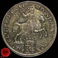 NETHERLANDS HOLLAND DUCATON SILVER RIDER 1740 STRUCK OVER 1730.