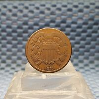 1871 TWO CENTS COPPER COIN 2 CENTS EARLY US TYPE COIN BETTER DATE