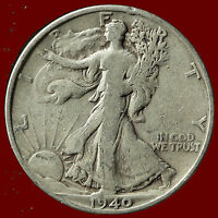 1940 S WALKING LIBERTY 90 SILVER HALF SHIPS FREE. BUY 5 FOR $2 OFF