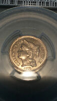 1872 THREE CENT NICKEL PCGS CERTIFIED PF63 ONLY 950 MINTED  BSBC